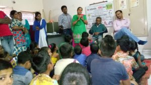 Children day celebration at childline office