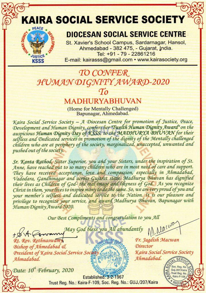Human Dignity Awards -2020